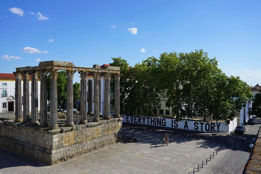 Templo Romano in Evora, Portugal