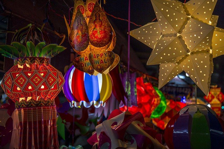 Diwali festival in Delhi tijdens de herfstvakantie in India