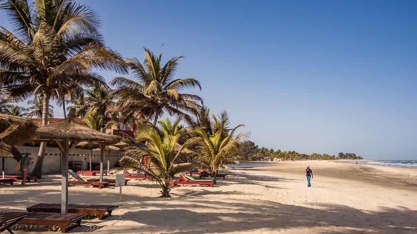 Stranden in Gambia