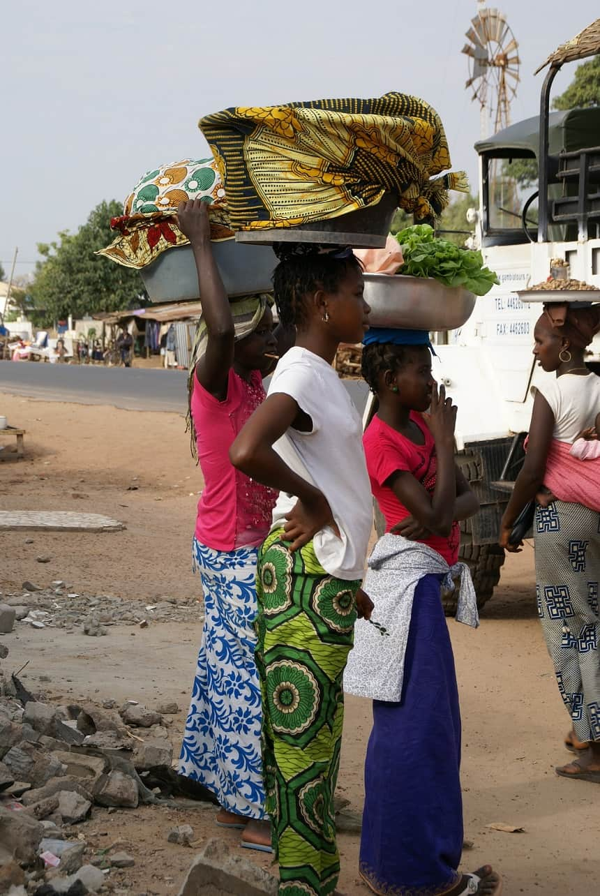 Gambia vismarkt