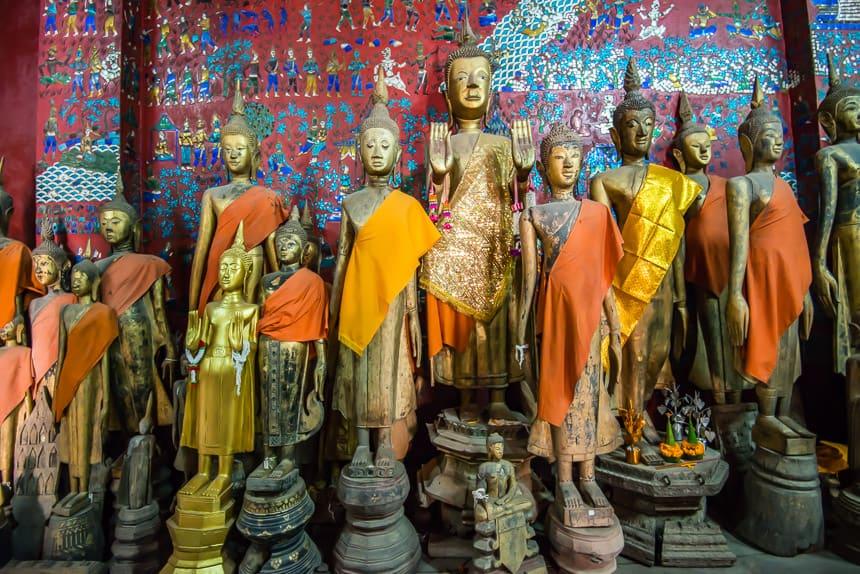 Een mooie collectie Boeddha beelden