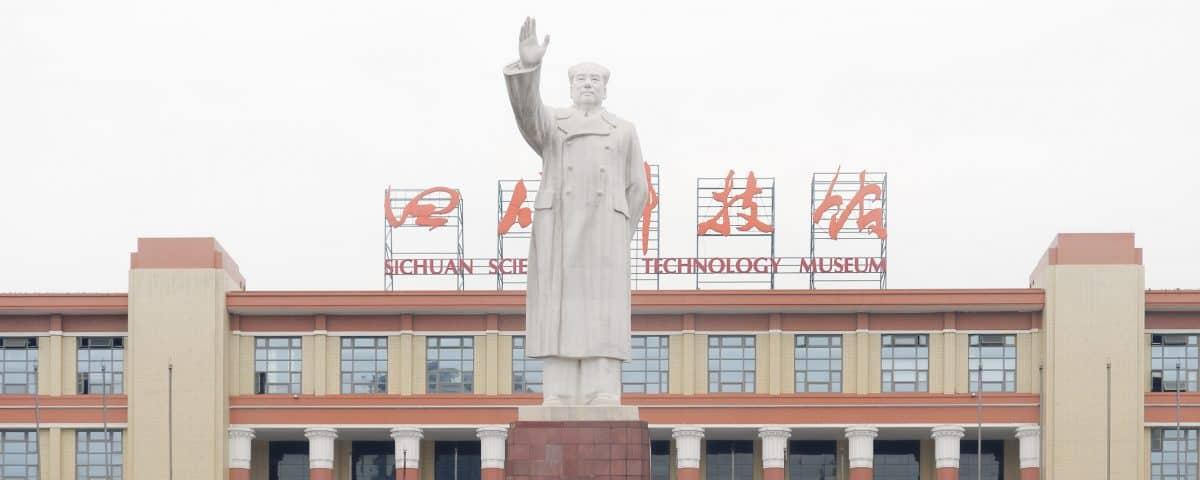 Chengdu: Mao in de mist