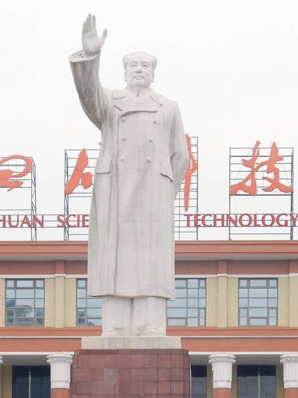 Chengdu: Mao in de mist