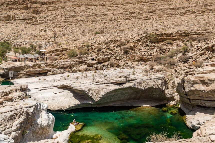Stille meertjes bij Wadi Bani Khalid