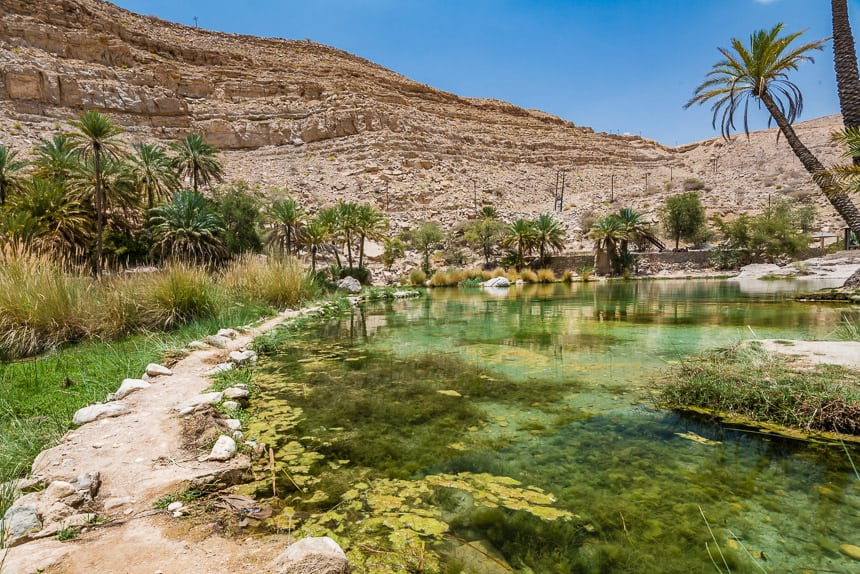 Het aanzicht van Wadi Bhani Khalid