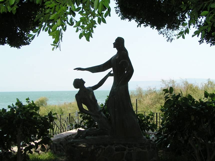 Het Meer van Galilea bij Tabga