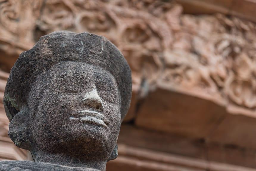 Khmer stijl hoofd en latei in Phanom Rung