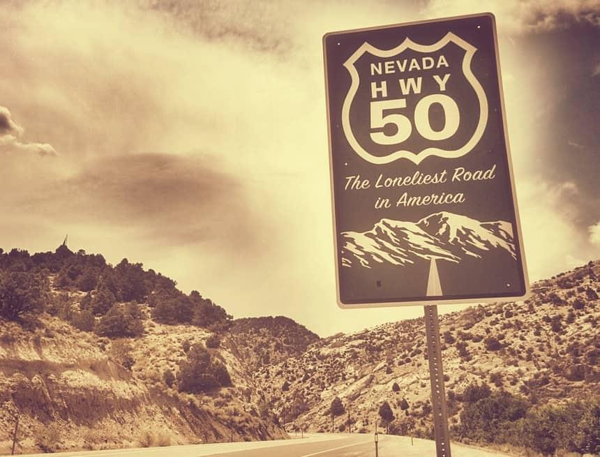The loneliest road in America. Dat is dus echt heel lonely...