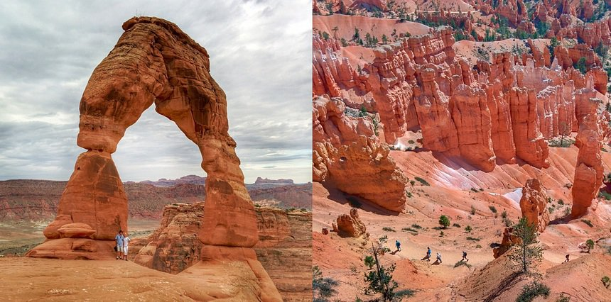 Arches National Park en Bryce National Park. Rood, roder, roodst.
