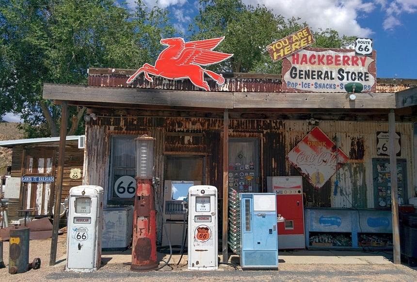 Op de beroemde Route 66.