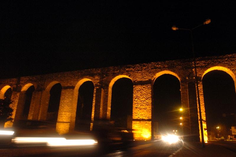 Aqueduto da Água de Prata in Evora in de Alentejo