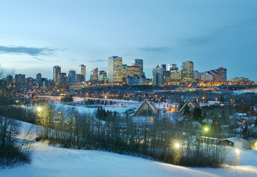 edmonton skyline winter