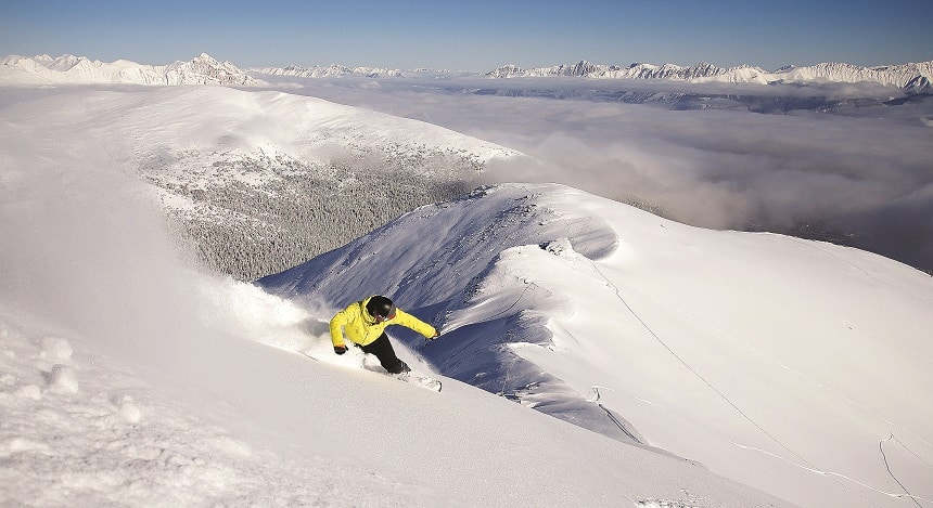 In Marmot Basin is er ruimte in overvloed om te skiën, credits: Ski Marmot Basin