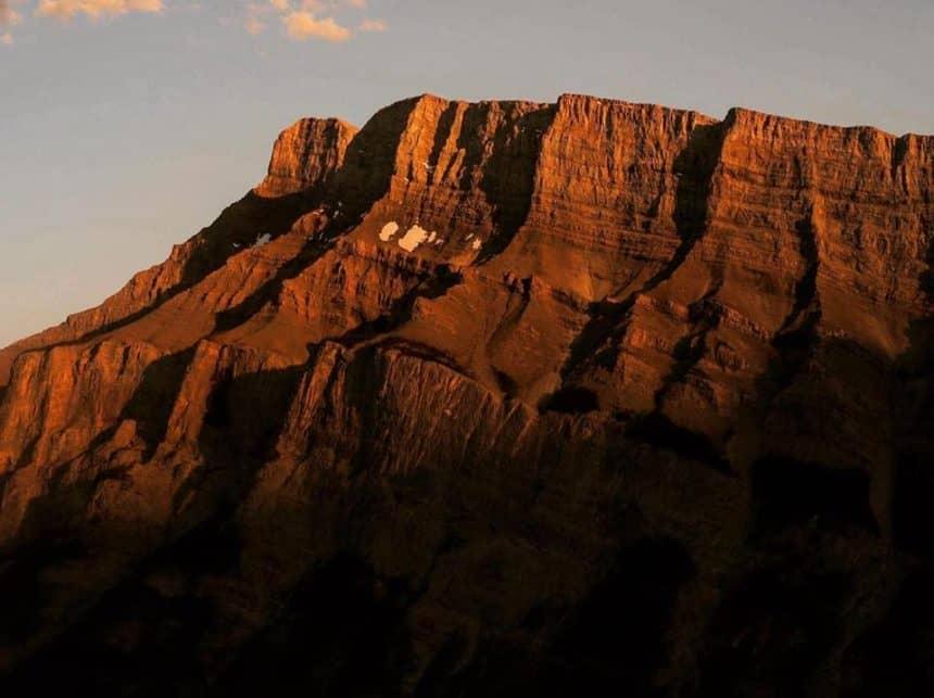 Zonsondergang in de Canadese Rockies