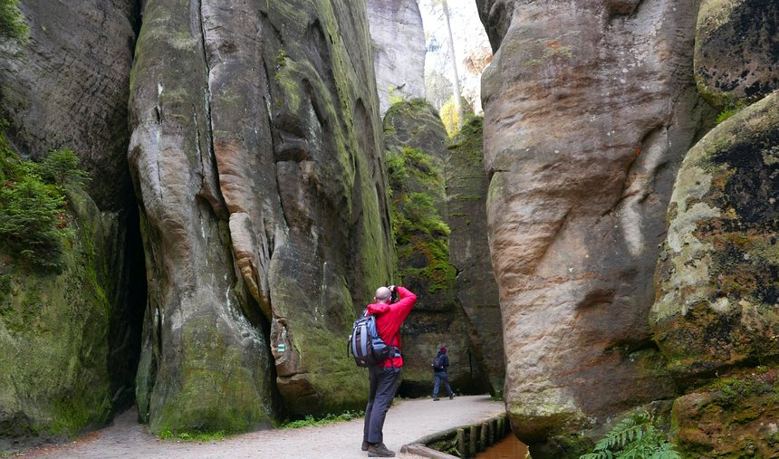 De indrukwekkende rotsen van Adršpach-Teplice waren ooit de zeebodem.