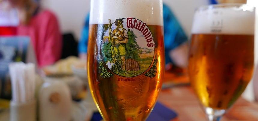 In het Reuzengebergte drink je reuzenbier (Krkonoš) dat al sinds 1582 wordt gebrouwen.