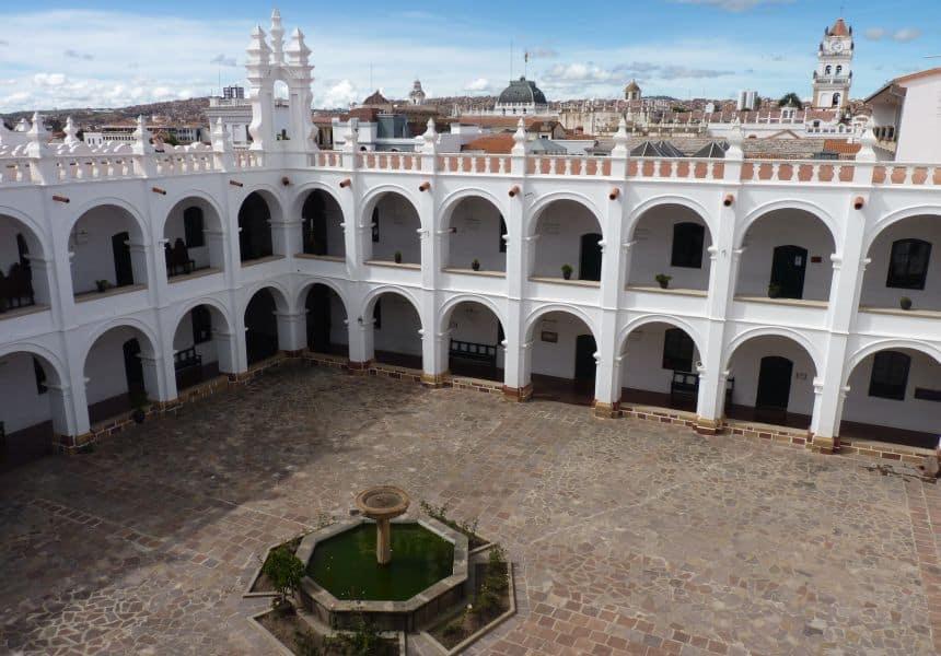 Universidad San Francisco Xavier de Chuquisaca in de oude stad van Sucre