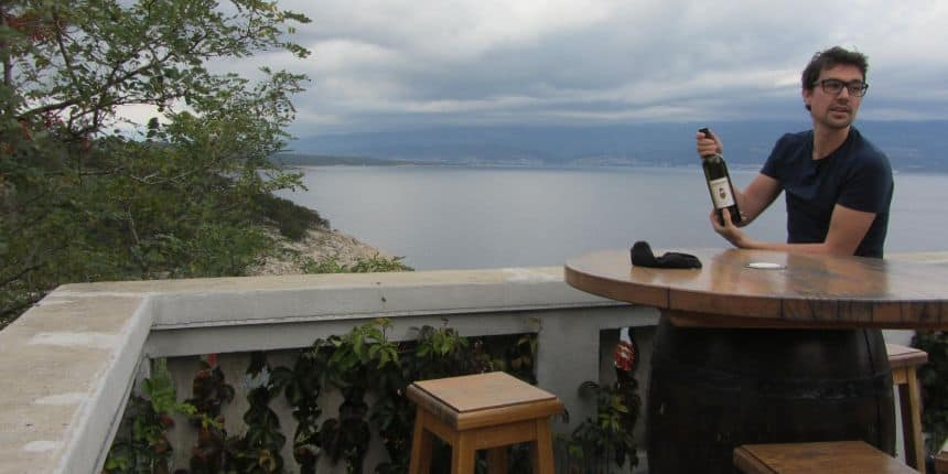 Wijn drinken in Vrbnik