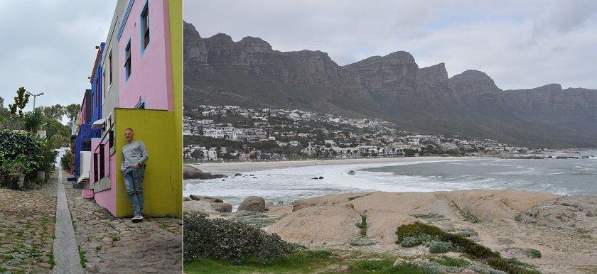 Kaapstad, gekleurde huizen en Camps Bay