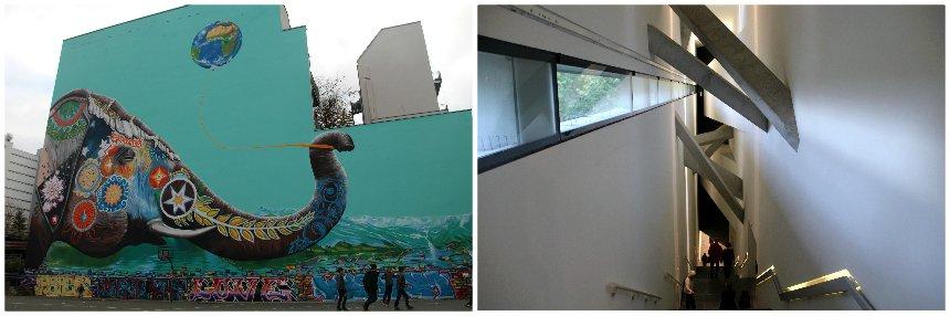 In de buurt van het Joods Museum in Berlijn vind je mooie street art