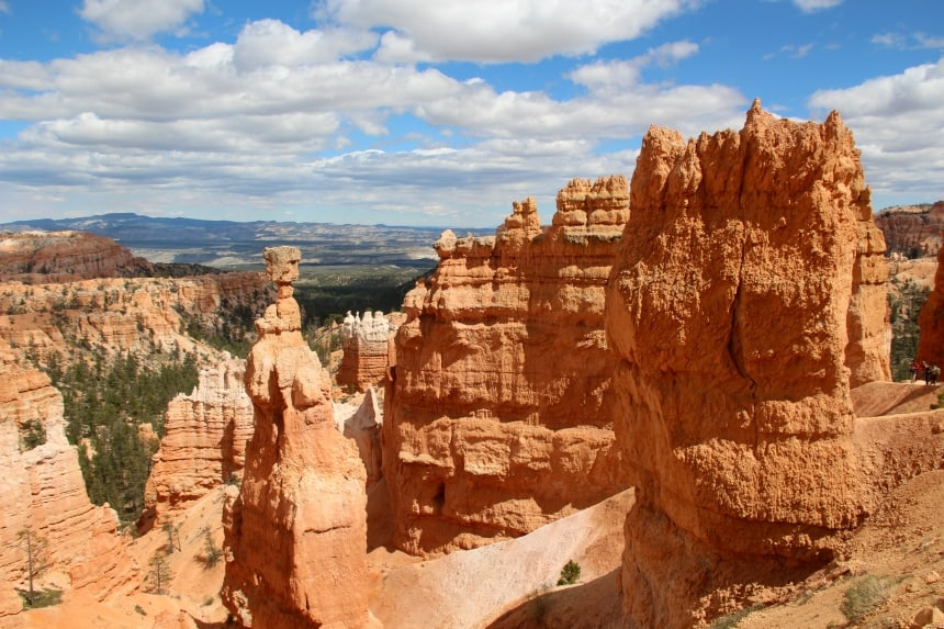 Bryce Canyon staat bekend om de hoodoos, grote rotspilaren