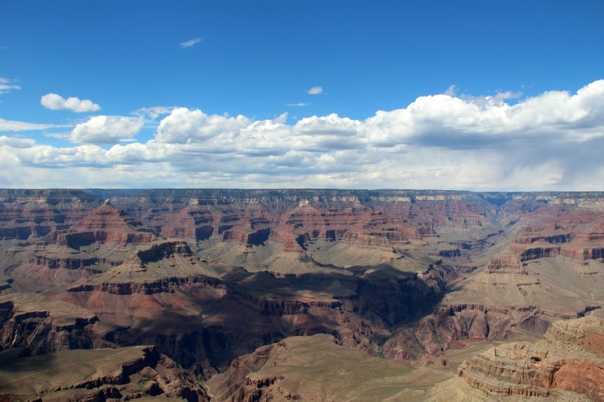 De Grand Canyon is een gigantische kloof in de Amerikaanse staat Arizona