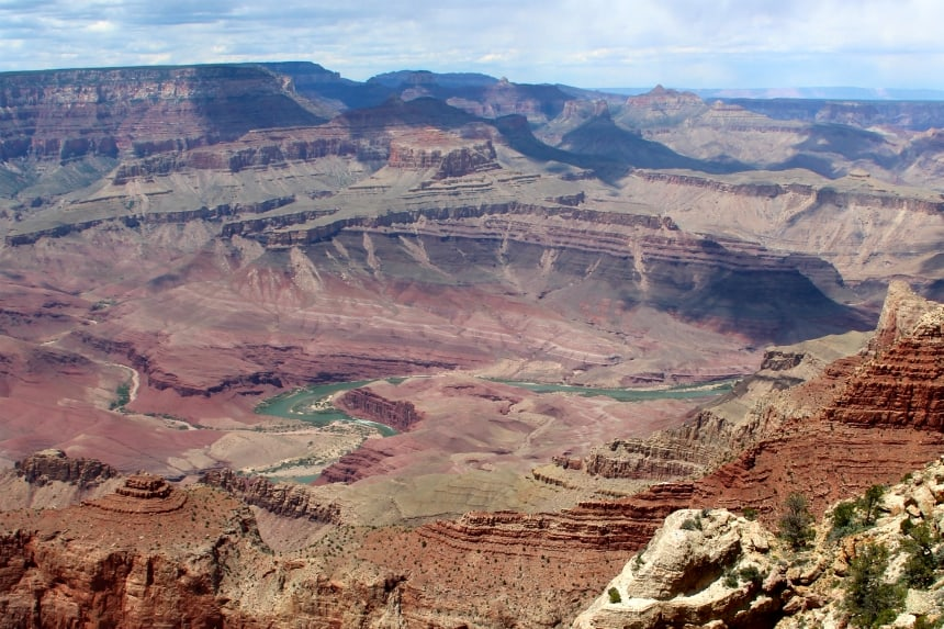 De Grand Canyon is uitgesleten door de Colorado River
