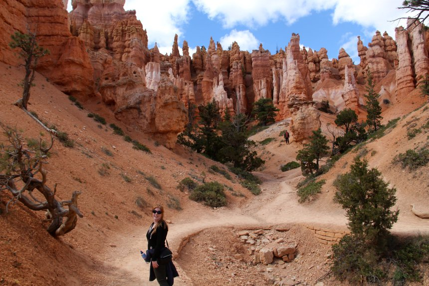 Wandelen in de inner canyon van Bryce Canyon National Park