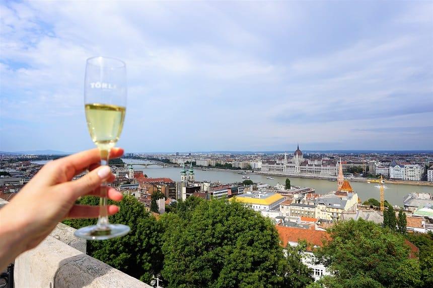 Champagne aan de Donau