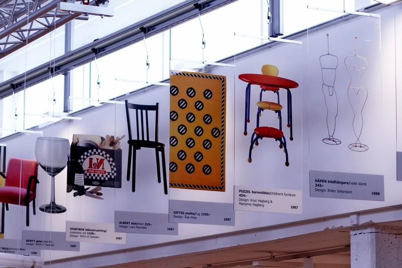 Ontwerpen uit alle jaren aan de lopende band in het IKEA museaum