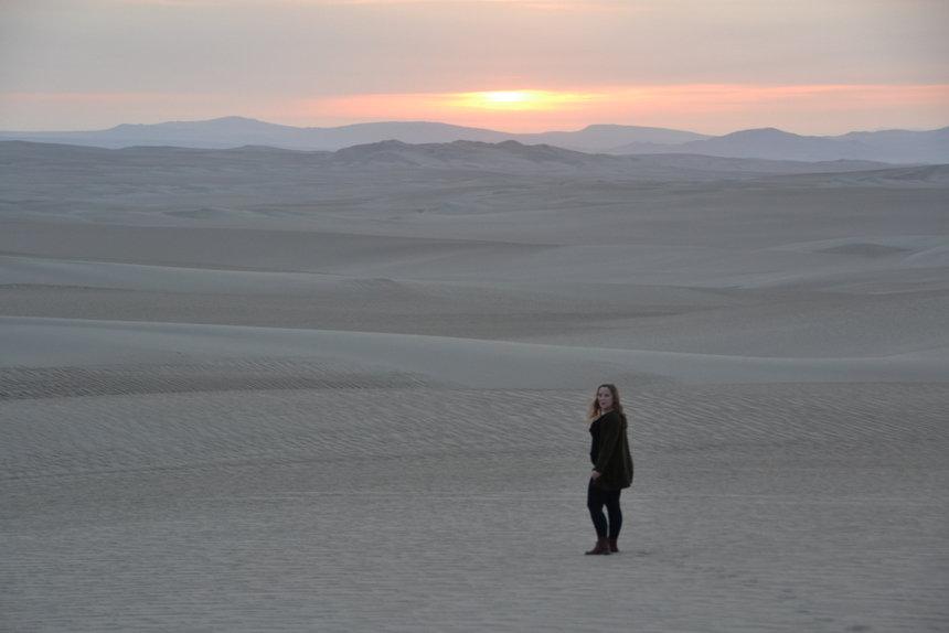zonsondergang woestijn Ica