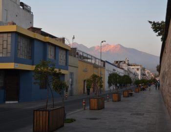De uitdagende hoogtes van Arequipa in Peru
