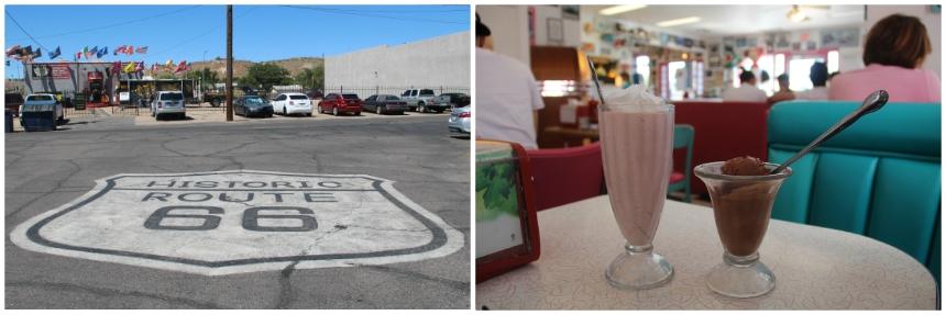 Bezoek een Amerikaanse diner in Kingman, Arizona