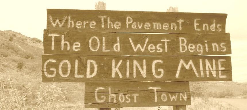 Goud- en zilvermijnen in het oude westen van de VS.