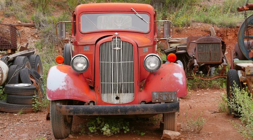 Het stadje Jerome in Arizone werd pas in de jaren 60 verlaten.