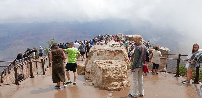 Begin van de middag: nog steeds weinig te zien behalve toeristen.