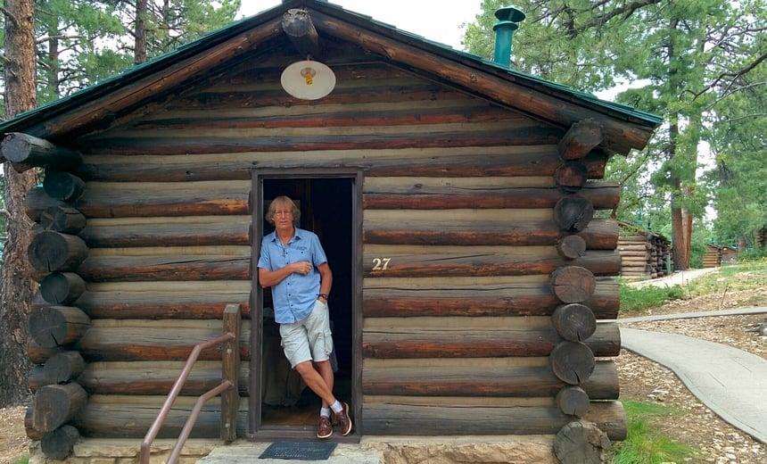 Onze eigen blokhut aan de rustige noordkant van de Grand Canyon.