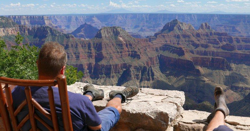 Wat een rust aan de noordkant van de Grand Canyon.