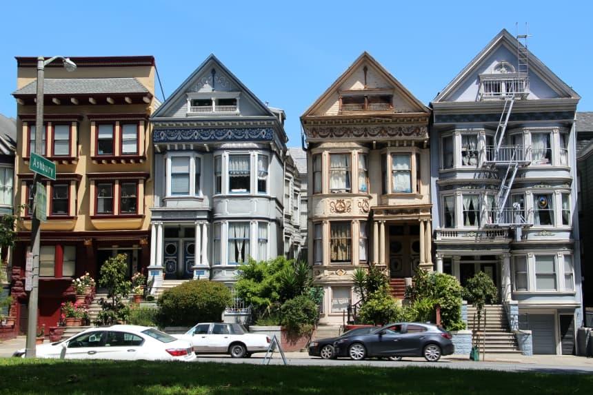 De huizen in San Francisco zijn prachtig en de architectuur is heel afwisselend
