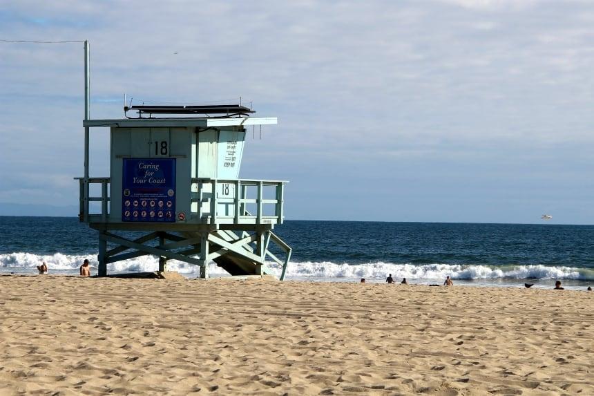 Strandhuisje in Los Angeles. Baywatch hebben we overigens niet gespot ;-)