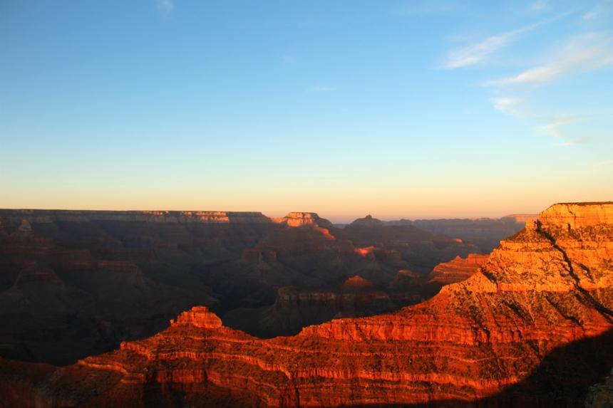 Fantastisch: een zonsondergang bekijken in de Grand Canyon