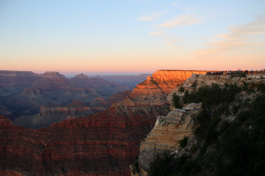Bucketlist dingetje: bekijk de zonsondergang in de Grand Canyon