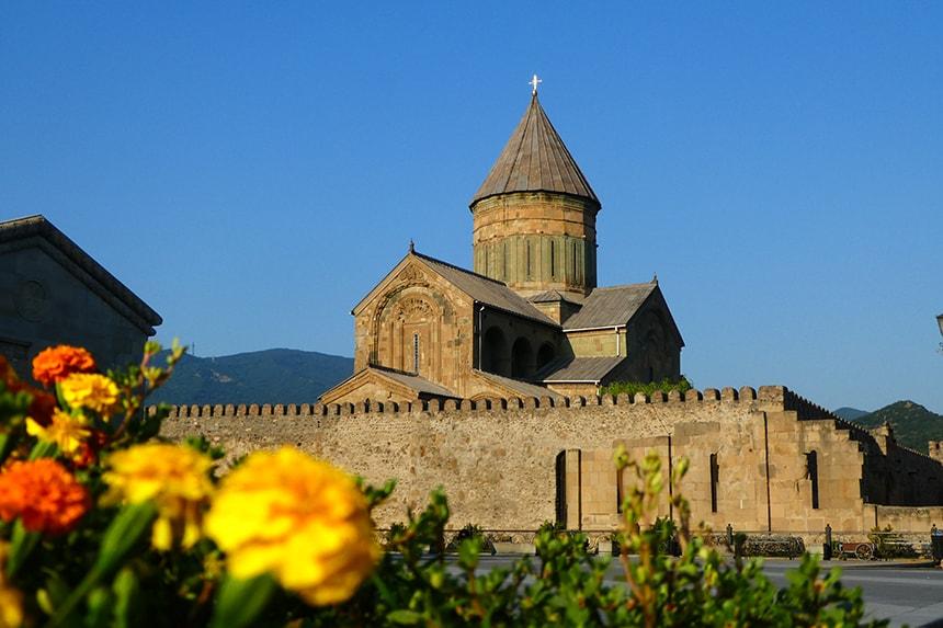 Svetitschoveli-kathedraal in Mtskheta, Georgië