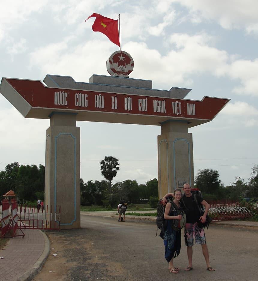 Grensovergang Cambodja - Vietnam
