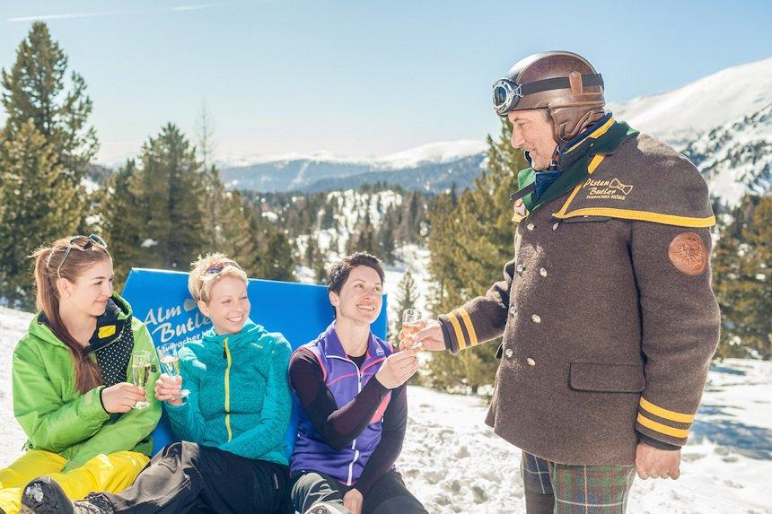 Hoogst persoonlijke service door pistenbutlers in Turracher Höhe