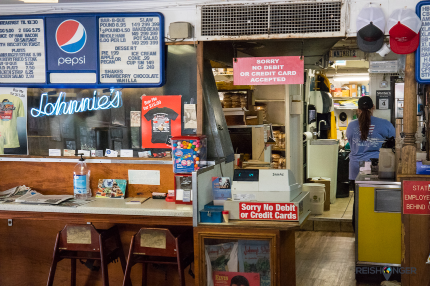 Johnnie's Drive-in, een eenvoudige all American diner