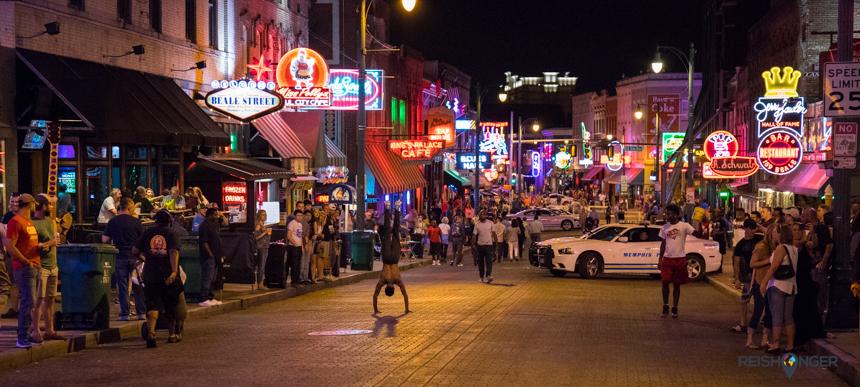 Beale Street in de avond