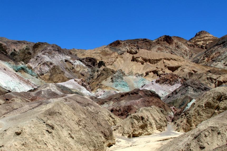 De gekleurde rotsen van Artist's Palette