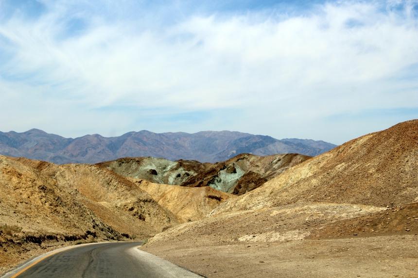 Artist's Drive en Artist's Palette: must-sees in Death Valley