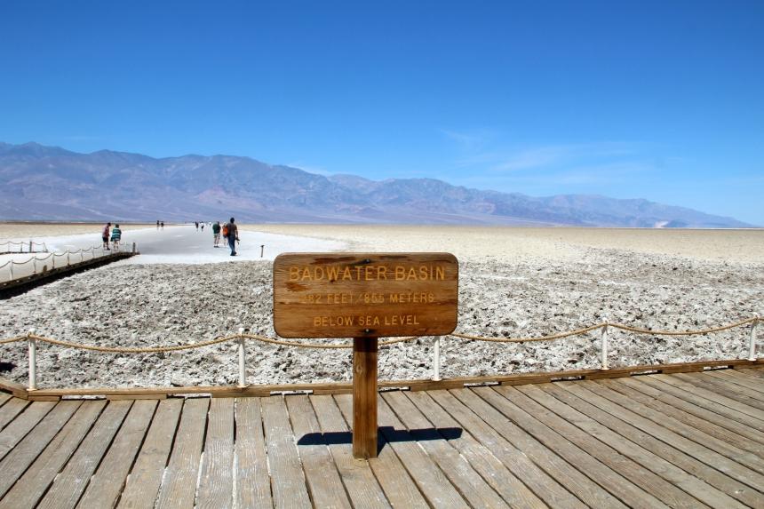 Zoutvlakte Badwater Basin in Death Valley